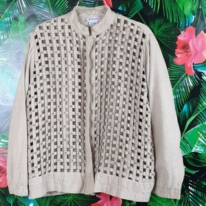 80s/90s mesh see- through basket pattern bomber